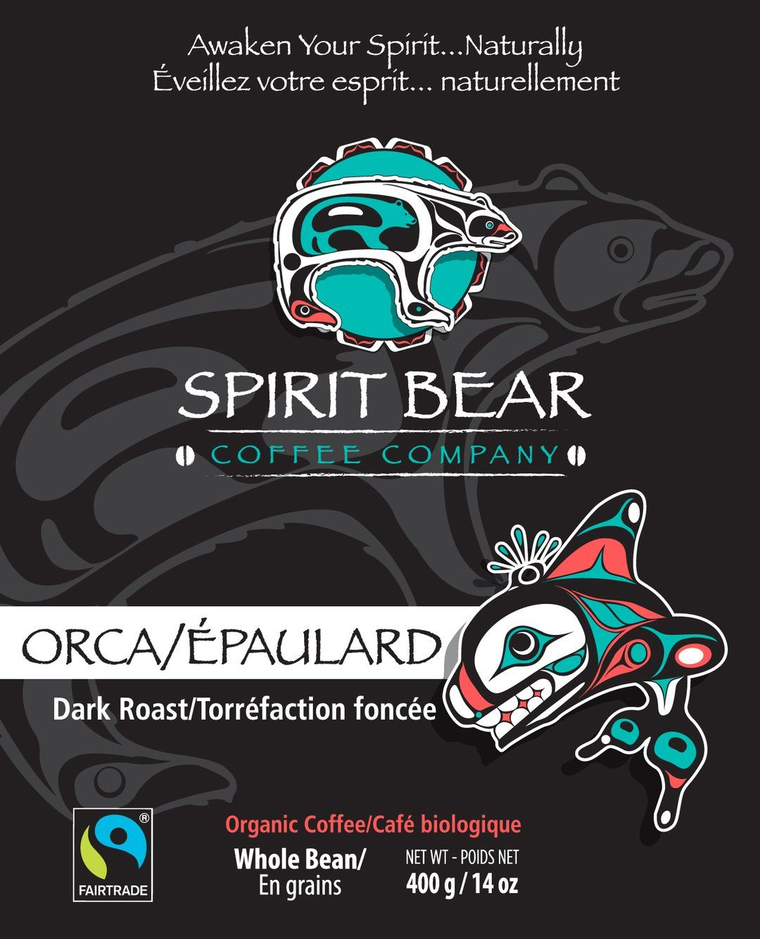 Spirit Bear Coffee Co. - Orca - Dark Roast (Beans)